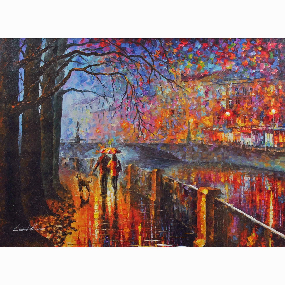 ALLEY BY THE LAKE LEONID AFREMOV ART POSTER 24x36-11395
